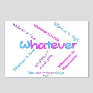 Whatever - Light Blue, Purple Postcards (Package o