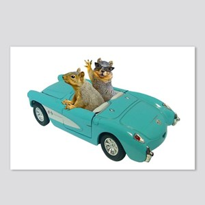 Squirrels Car Postcards (Package of 8)