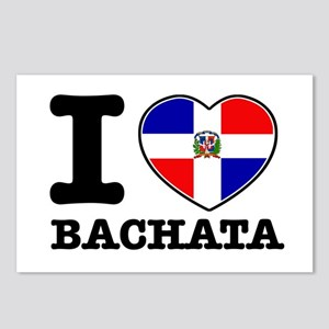 I love Bachata Postcards (Package of 8)