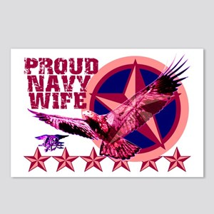 Proud Navy Wife Postcards (Package of 8)