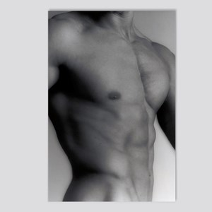 Nude man's torso Postcards (Package of 8)