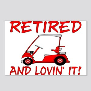 Retired And Lovin' It Postcards (Package of 8)