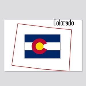 Colorado State Map and Fl Postcards (Package of 8)