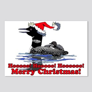 Christmas Loon Postcards (Package of 8)