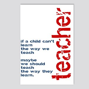 If A Child Cant Learn ... Postcards (Package of 8)