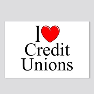 """I Love (Heart) Credit Unions"" Postcards (Package"
