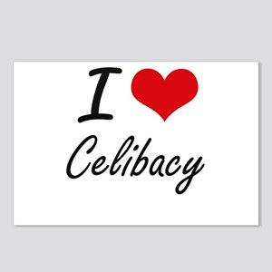 I love Celibacy Artistic Postcards (Package of 8)