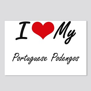 I Love my Portuguese Pode Postcards (Package of 8)