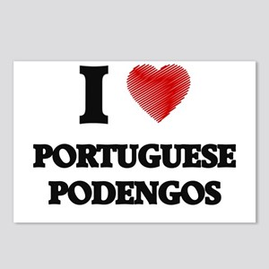 I love Portuguese Podengo Postcards (Package of 8)