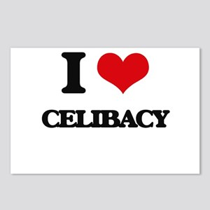 I love Celibacy Postcards (Package of 8)