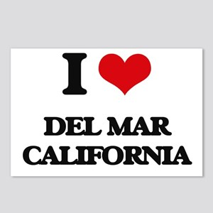 I love Del Mar California Postcards (Package of 8)