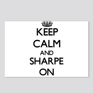 Keep Calm and Sharpe ON Postcards (Package of 8)