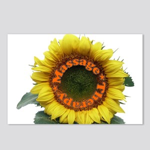 Massage Sun Flower Postcards (Package of 8)