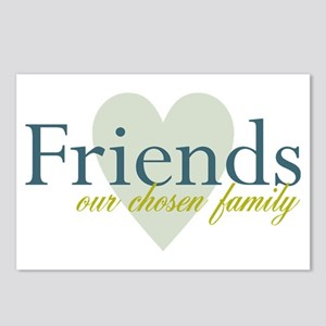 Friends, our chosen family Postcards (Package of 8