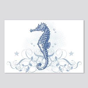 Blue Seahorse Postcards (Package of 8)