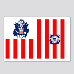 5-USCG-Flag-Ensign-Full-C Postcards (Package of 8)