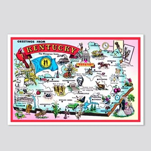 Kentucky Map Greetings Postcards (Package of 8)