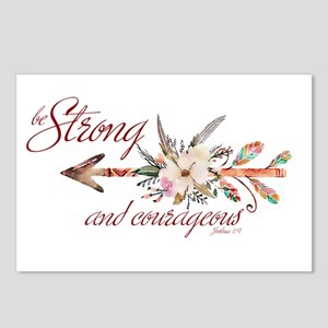 Strong and courageous Postcards (Package of 8)