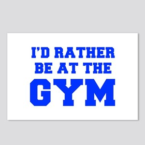 ID-RATHER-BE-AT-THE-GYM-FRESH-BLUE Postcards (Pack