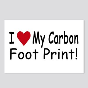 Carbon Foot Print Postcards (Package of 8)