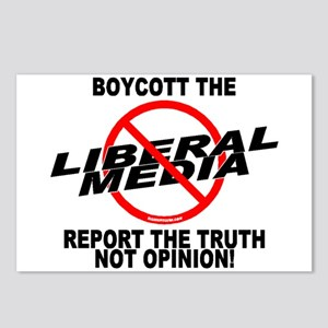 Boycott The Liberal Media Postcards (Package of 8)