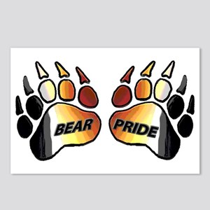 2 BEAR PRIDE PAWS/TEXT Postcards (Package of 8)