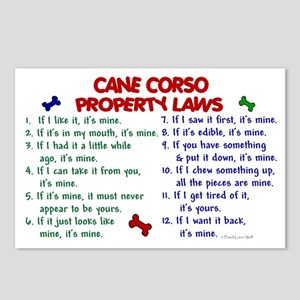 Cane Corso Property Laws 2 Postcards (Package of 8