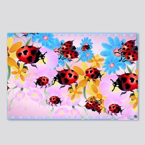Lucky-Love Ladybugs Postcards (Package of 8)