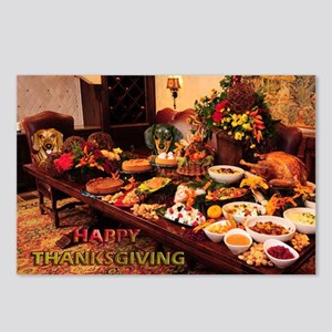 Thanksgiving Dinner Doxies 1 Postcards (Package of