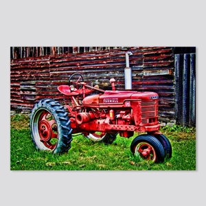 Red Tractor HDR Style Postcards (Package of 8)