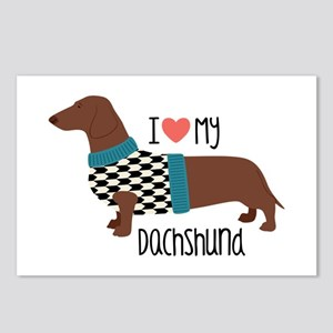 Love My Dachshund Postcards (Package of 8)