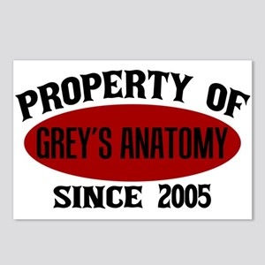 Property of Grey's Anatom Postcards (Package of 8)