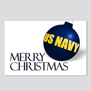 Merry Navy Christmas Postcards (Package of 8)