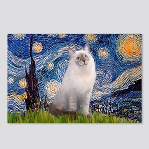 Starry Night Ragdoll Postcards (Package of 8)