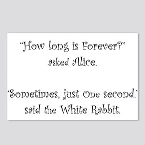 How Long Is Forever Alice Postcards (Package of 8)