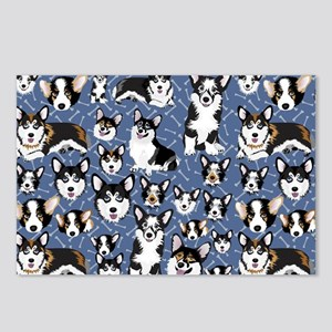 Corgi Dogs (Blue Bones) Postcards (Package of 8)