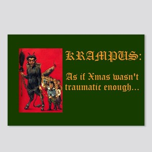Traumatic Xmas Postcards (package Of 8)