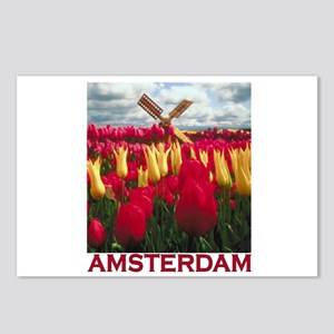 Amsterdam Tulips Postcards (Package of 8)