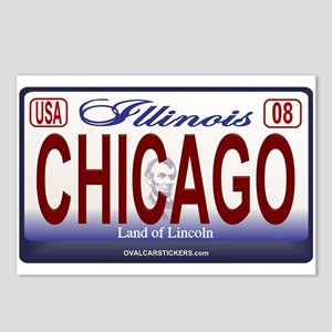 Chicago License Plate Postcards (Package of 8)