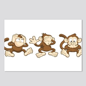 No Evil Monkey Postcards (Package of 8)