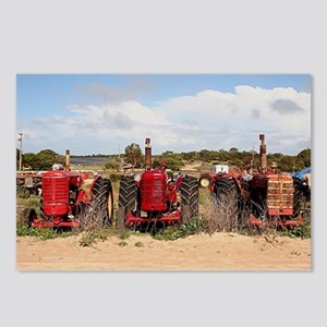 Old farm tractors machine Postcards (Package of 8)