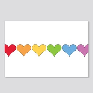 Rainbow Hearts Postcards (Package of 8)