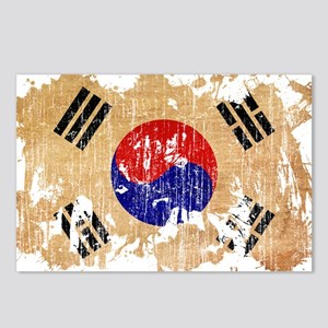South Korea Flag Postcards (Package of 8)