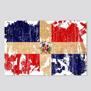 Dominican Republic Flag Postcards (Package of 8)