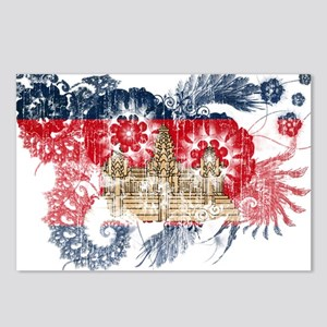 Cambodia Flag Postcards (Package of 8)