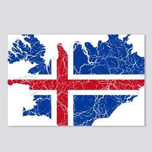 Iceland Flag And Map Postcards (Package of 8)