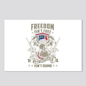 Freedom isn't Free, and F Postcards (Package of 8)