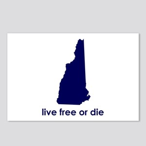 BLUE Live Free or Die Postcards (Package of 8)