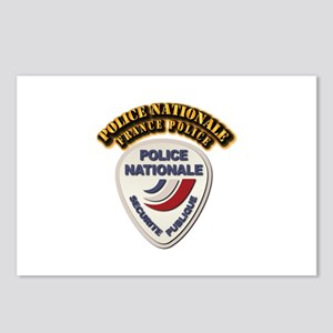 Police Nationale France P Postcards (Package of 8)
