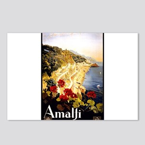 Antique Italy Amalfi Coast Travel Poster Postcards